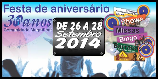 Festa 30 anos Comunidade Magnificat