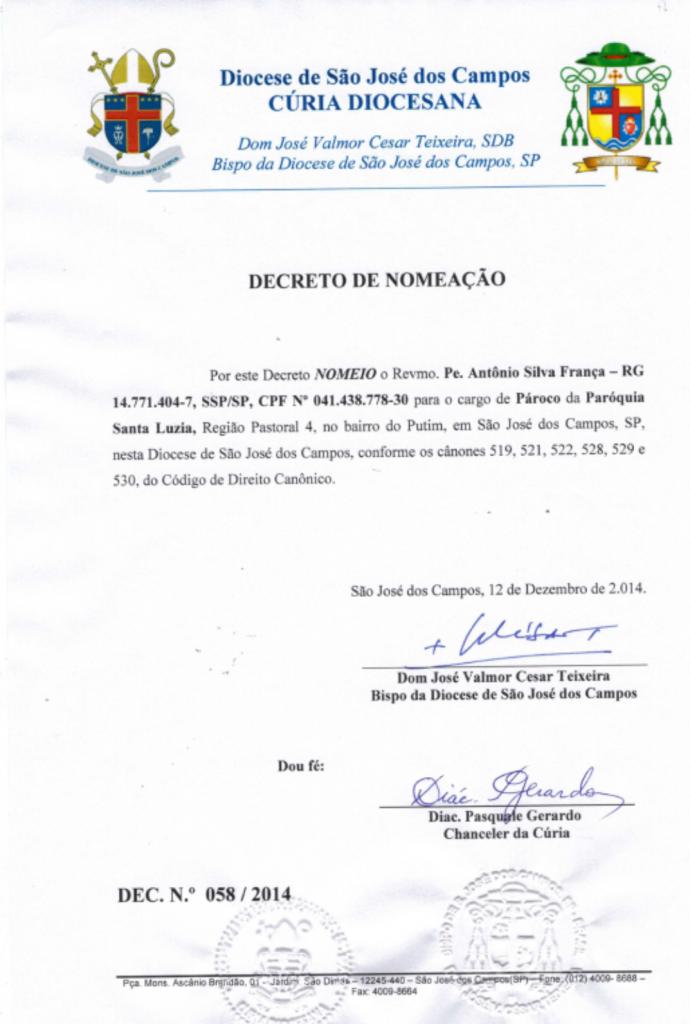 decreto de nomeação